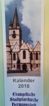 Evangelische Stadtpfarrkirche Hermannstadt. Kalender 2018