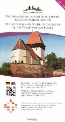 Kirchenburgen und mittelalterliche Kirchen in Siebenbürgen - Landkarte